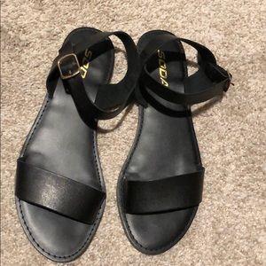 Soda black sandals